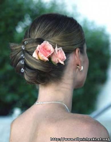 свадебные прически с короткой челкой - Свадебные прически.