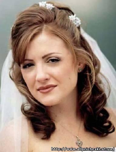 свадебная прическа с косой челкой - Свадебные прически.