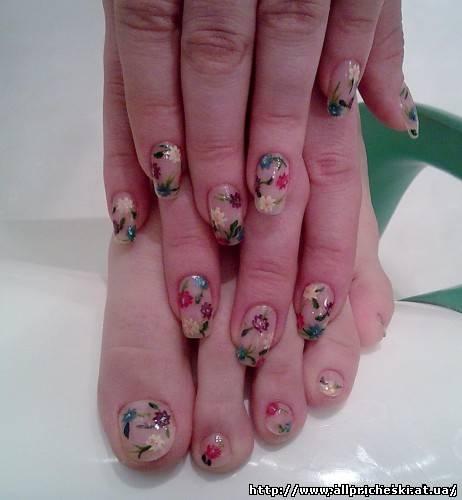 жидкие камни дизайн ногтей - Маникюр фото.