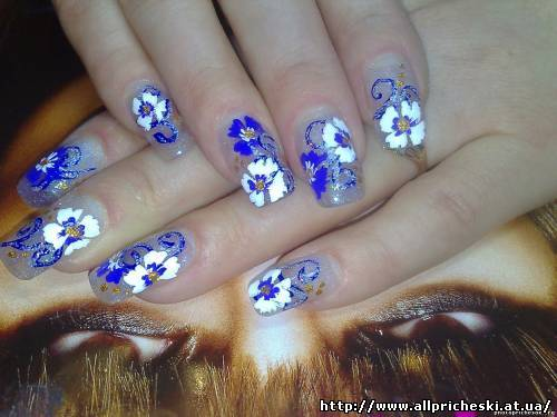 рисунки на ногтях яркие летние - Маникюр фото.