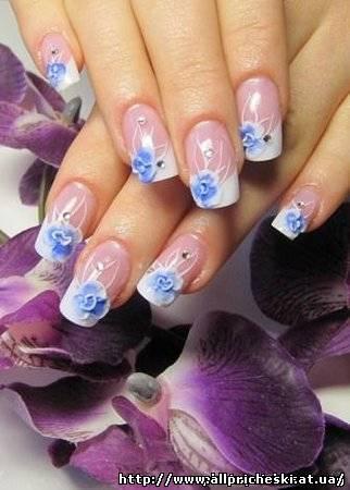 рисунки на ногтях пошаговое фото - Маникюр фото.